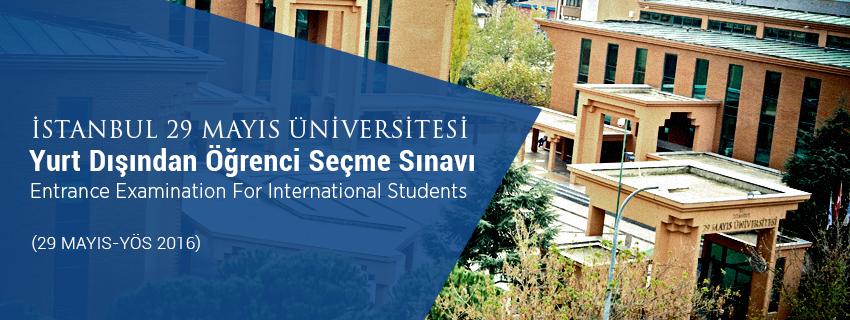 Yurt Dışından Öğrenci Seçme Sınavı (29 Mayıs - YÖS 2016)