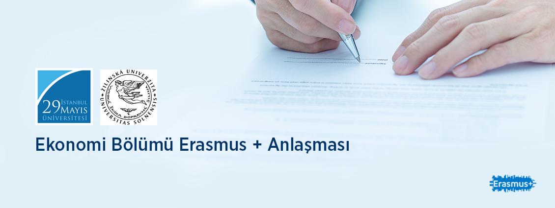 Ekonomi Bölümü Erasmus + Anlaşması