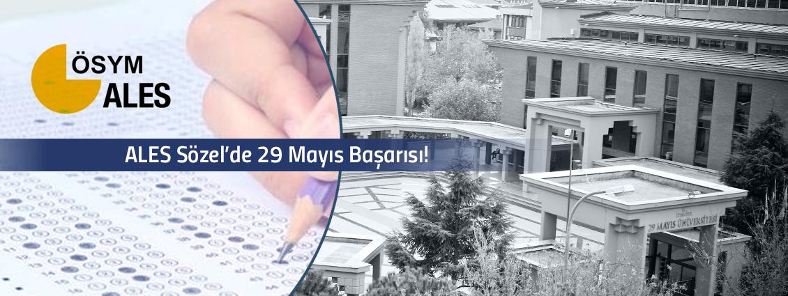 ALES Sözel'de 29 Mayıs Başarısı!