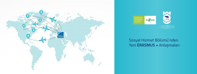 Sosyal Hizmet Bölümü'nden Yeni Erasmus+ Anlaşmaları