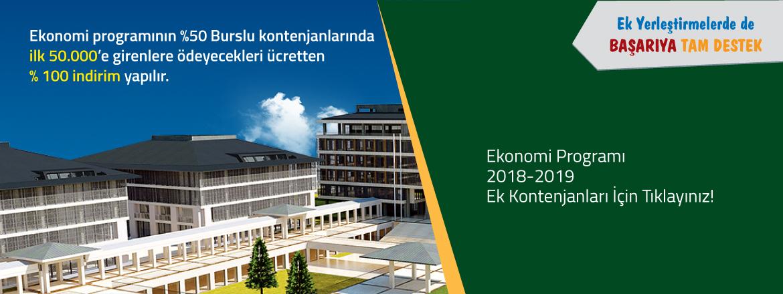 Ekonomi Programı 2018-2019 Ek Kontenjan Duyurusu