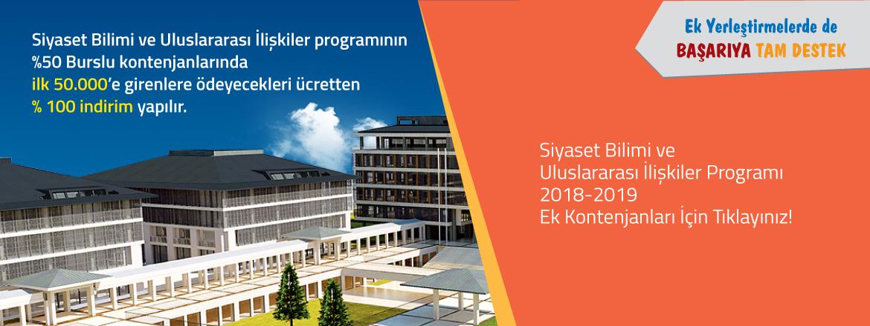Siyaset Bilimi ve Uluslararası İlişkiler Programı 2018-2019 Ek Kontenjan Duyurusu