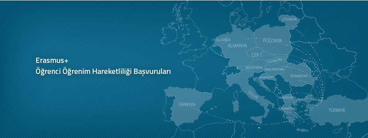 Erasmus+ Programı 2018-2019 Bahar Yarıyılı Öğrenci Öğrenim Hareketliliği Başvuruları