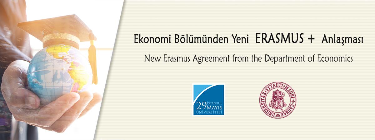 Ekonomi Bölümünden Yeni Erasmus Anlaşması