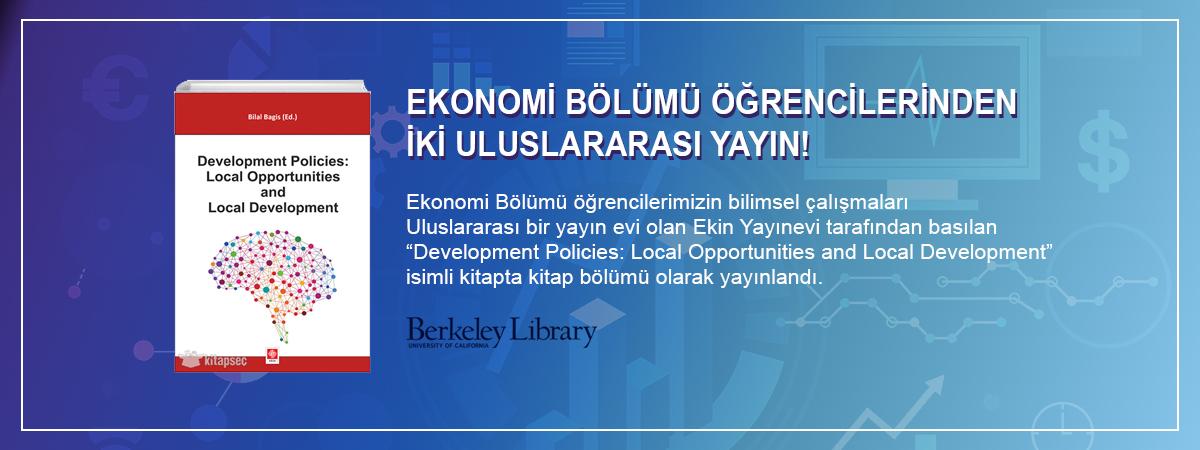 Ekonomi Bölümü Öğrencilerinden İki Uluslararası Yayın