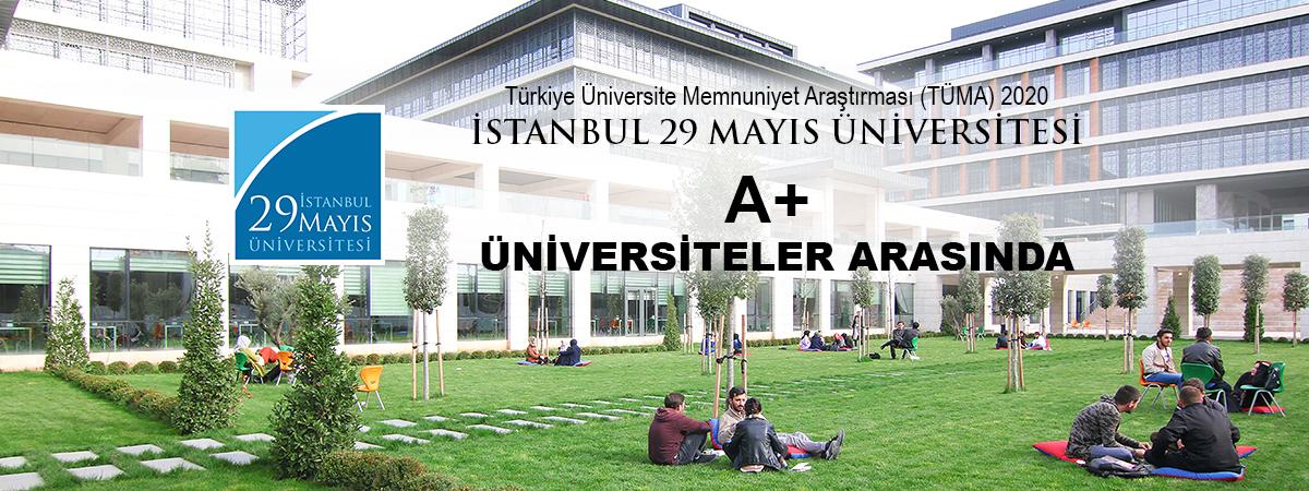İstanbul 29 Mayıs Üniversitesi 2020 Yılında da A+ Üniversiteler Arasında!