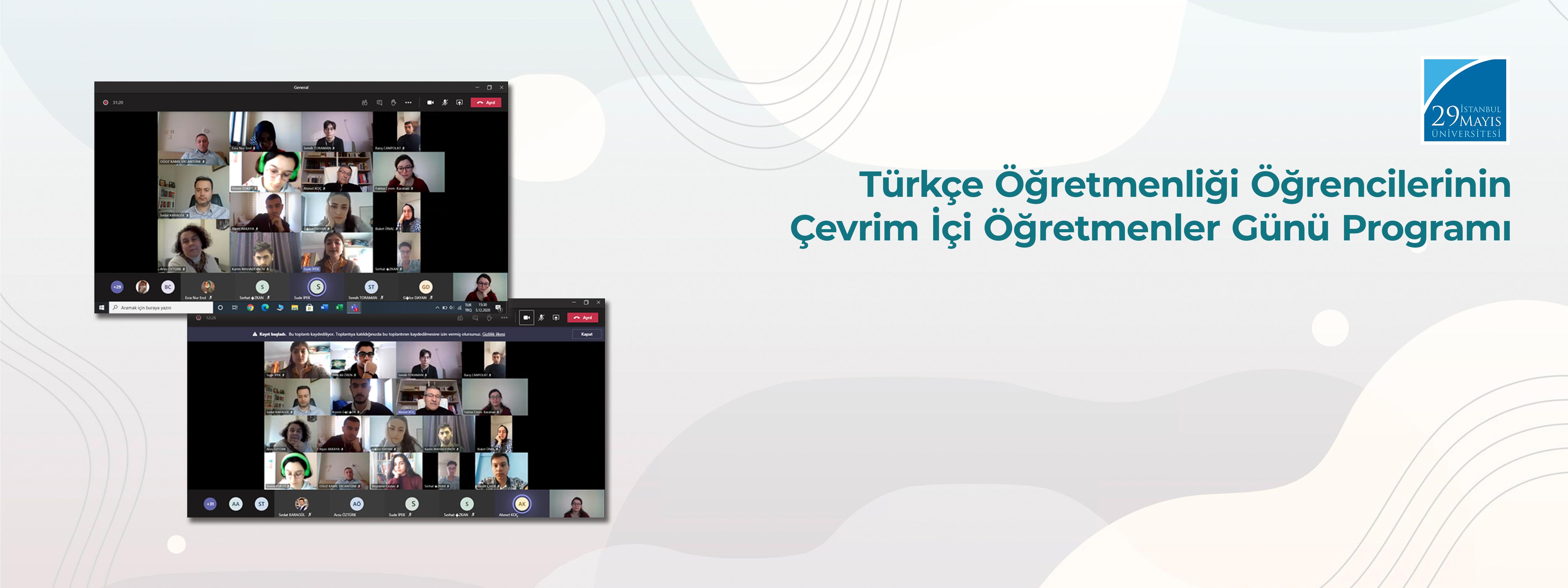 Türkçe Öğretmenliği Öğrencilerinin Çevrim İçi Öğretmenler Günü Programı